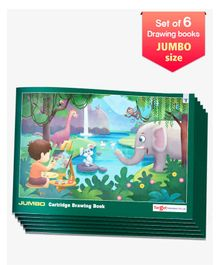 Target Jumbo Size Drawing Book Set of 6 - 36 Pages each