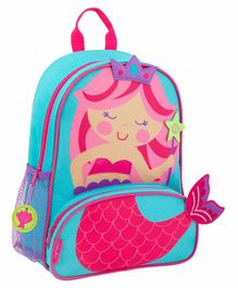 Stephen Joseph Mermaid Backpack Blue - 12.75 Inches