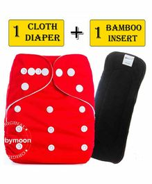 Babymoon Reusable Cloth Diaper with Insert - Red