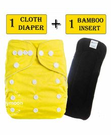 Babymoon Reusable Cloth Diaper with Insert - Yellow