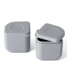 Miniware 100% Silicone Leakproof Silipods Pack of 2 - Grey