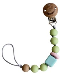 Little Rawr Silicone Pacifinder Beads with Clip Holder - Green