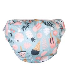 Polka Tots Reusable Swim Diaper Candy Design - Grey