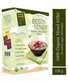 Pristine Beginnings Organic Mixed Millet Flakes - 150 gm