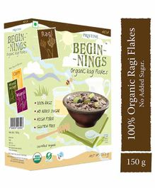 Pristine Beginnings Organic Ragi Flakes - 150 gm