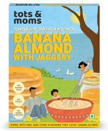 Tots and Moms Foods Banana Almond Pancake Mix With Jaggery - 200 gm