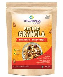 Tots and Moms Foods Fit Pro Granola - 200 gm