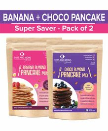 Tots and Moms Foods Choco Almond & Banana Almond Pancake Mixes Combo Super Saver Pack of 2 - 200 gm each