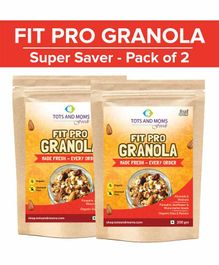 Tots and Moms Foods Fit Pro Granola Super Saver Pack of 2 - 200 gm each