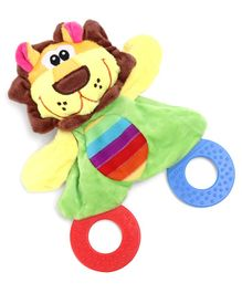 Lion Plush Toy Rattle Teether - Multicolor