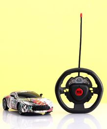 Toy Car with Gravity Sensor Steering Wheel Remote - Multicolor