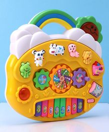 Musical Piano Toy with Light - Yellow