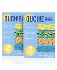 Aya Papaya Ouchie Adhesive Bandages Pack Of 2 - 40 Strips