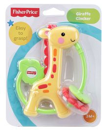 Fisher Price Giraffe Clacker Funny Feet Activity - Yellow