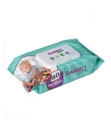 Bambo Nature Eco Friendly Baby Wet Wipes - 80 Pieces