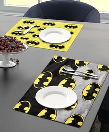 Saral Home Batman Velvet  Place Mats - Black