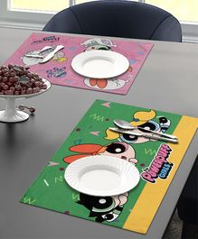 Saral Home Powerpuff Girls Velvet Place mats - Green