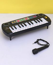 25 Keys Electronic Keyboard with Microphone - Black