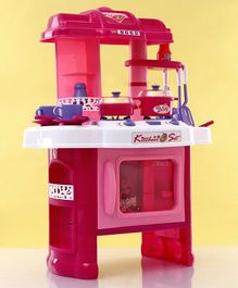Kitchen Play Set With Light and Sound - Pink