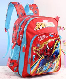 Marvel Spider Man School Bag Blue Red - 16 Inches