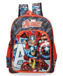 Marvel Avengers School Bag Black - Height 16 Inches