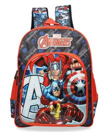 Marvel Avengers School Bag Black - Height 18 Inches
