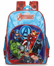 Marvel Avengers Super Heroes School Bag Blue Red - 16 Inches