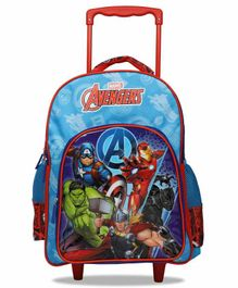 Marvel Avengers Super Heroes Trolley School Bag Blue - 16 Inches