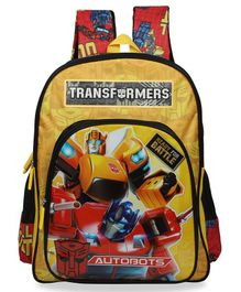 Transformers School Bag Yellow - 14 Inches