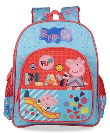 Peppa Pig School Bag Blue - 12 Inches