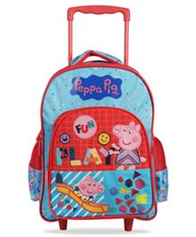 Peppa Pig Trolley Bag Blue Red - 16 Inches