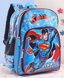 DC Comics Superman School Bag Blue - 18 Inches