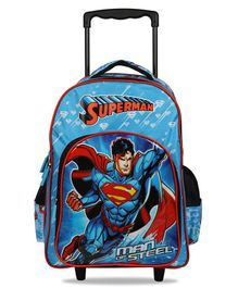 DC Comics Superman Trolley School Bag Blue - 18 Inches