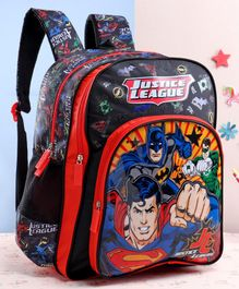DC Comics Justice League School Bag Black - 18 Inches