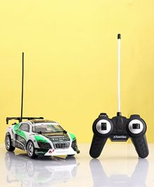 5 Function 27 MHz Remote Control Speed Up Car - White Green