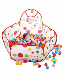 Kids Play Ball Pit & 50 Balls with Basketball Hoop - Multicolor