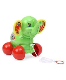 Lovely Pull N Go Elephant Toy - Green