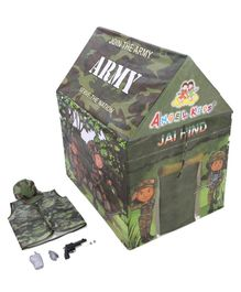 Lovely Tent House Army Printed - Green