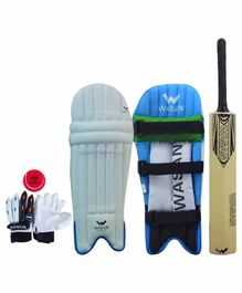 Wasan Complete Cricket Set - White Blue