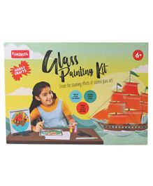 Funskool Glass Painting Kit with Glass Colors - Multicolor