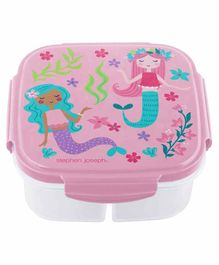 Stephen Joseph Snack Box with Ice Pack Mermaid Print - Pink