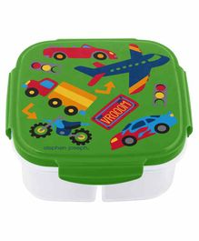 Stephen Joseph Snack Box with Ice Pack Transportation Print - Green