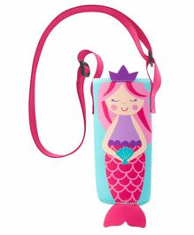 Stephen Joseph Water Bottle Cover with Strap Mermaid Print Multicolor - Fits Up to 750 ml