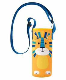 Stephen Joseph Water Bottle Cover with Strap Lion Print Yellow - Fits Up to 750ml