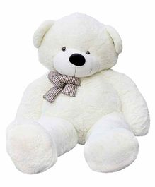 Frantic Teddy Bear with Bow White - Height 115 cm
