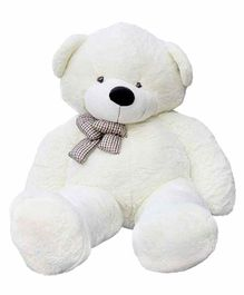 Frantic Teddy Bear with Bow Applique White - Height 150 cm