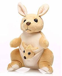 Frantic Kangaroo Soft Toy Brown - Height 32 cm