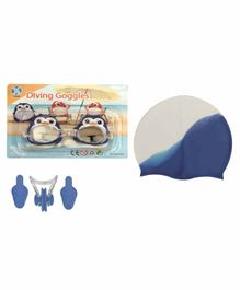 Passion Petals Swimming Kit with Antifog Goggles - Blue