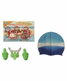 Passion Petals Swimming Kit with Antifog Goggles - Red