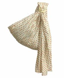 Polka Tots Baby Ring Sling Carrier Wrap Watermelon Print - Cream